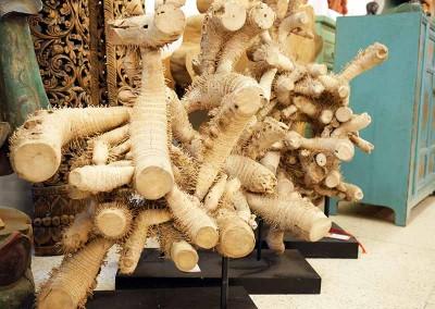 Bambuswurzel-Skulptur