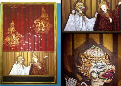 Gemälde Pekingoper