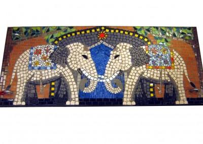 Elefanten Mosaik Schaukel