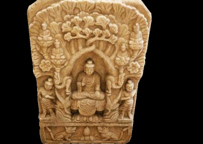 Antikes Buddha-Relief, Marmor