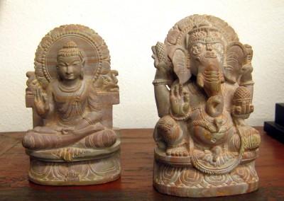 Buddha und Ganesha