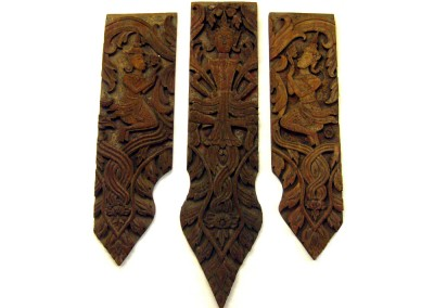 3-teiliges Relief, antik