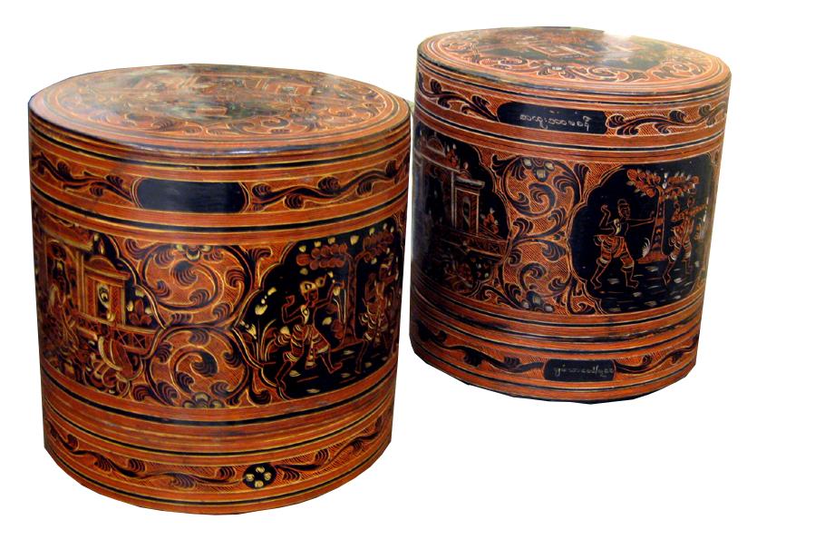 Betelnussdosen, Lacquerware