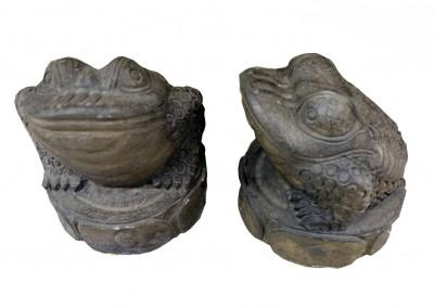 Frosch, frostsicherer Stein