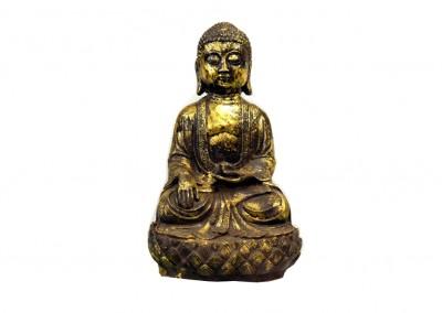 Buddha, Eisen vergoldet