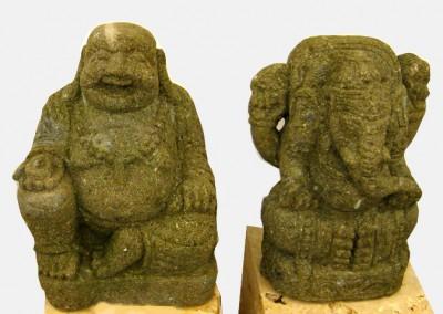 Happy Buddha und Ganesha