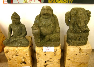 Lava Buddha und Ganesha