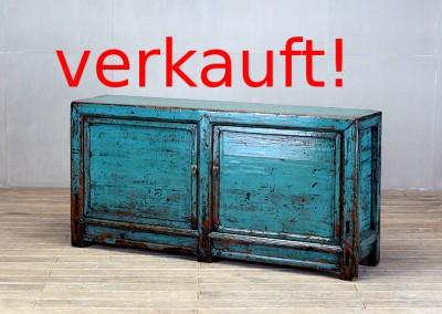 Blaue Kommode mit zwei Türen
