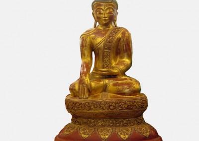 Großer Lacquerware Buddha