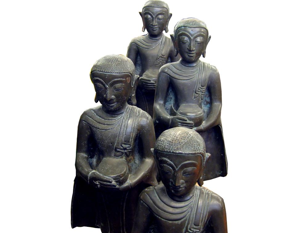 Mönche Bronze, Burma