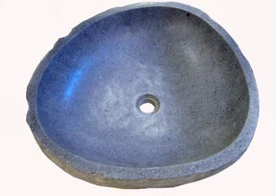 Waschbecken aus River-Stone