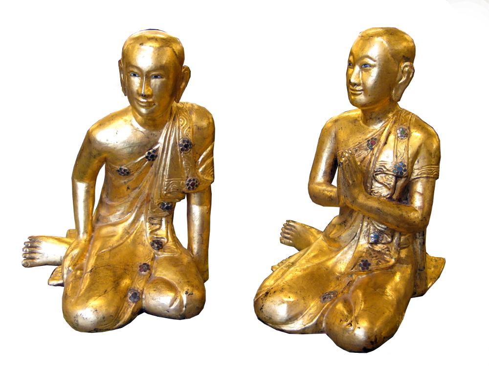 Sitzende Mönche, Burma