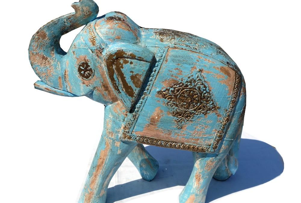 Blauer Elefant Indien
