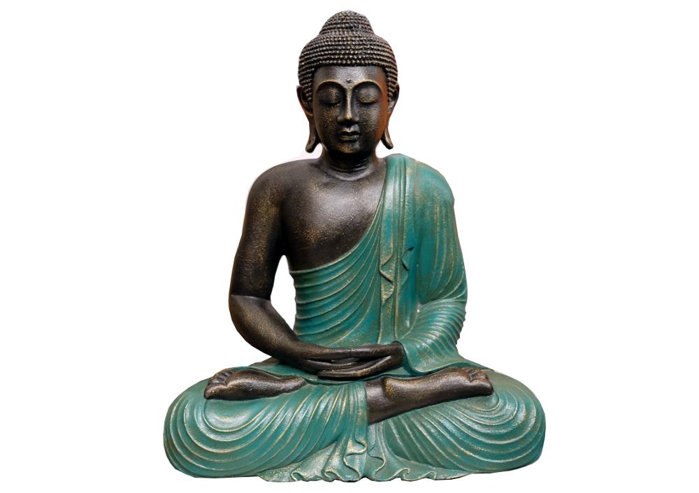 Buddha mit grünem Umhang