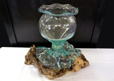 Mundgeblasene Glasvase