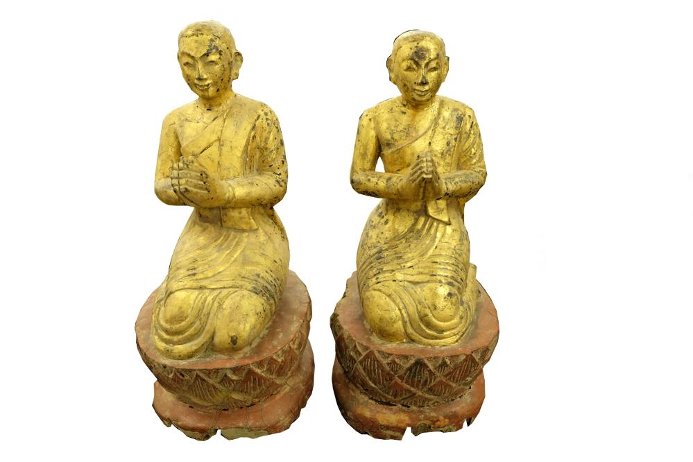 Paar Goldene Mönche