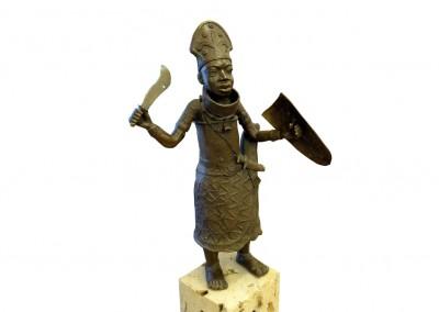 Kriegerfigur, Bronze