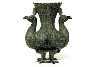 Vase Pfau, Bronze