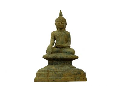 Antiker Buddha aus Burma, Bronze