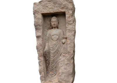 Altes Buddha Relief, frostsicher
