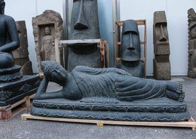 Liegender Buddha, frostsicher