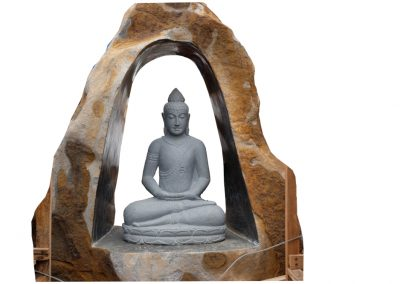 Cave Buddha im Felsen