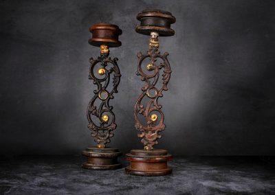 Alte Kerzenständer Gusseisen