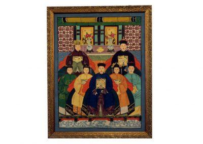 Antikes Ahnenbild, Rollenbild, China