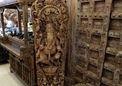 Riesiges Ganesha-Relief